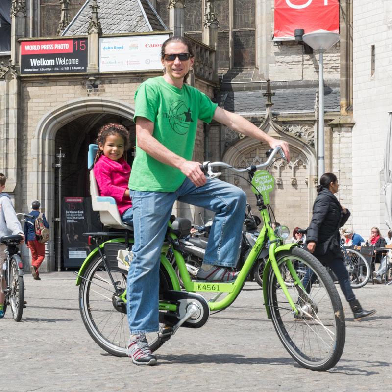 Green Budget Bike - Childseat